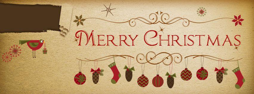 image result for vintage christmas card banner