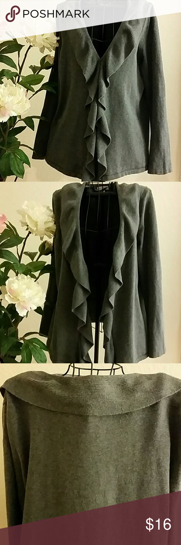 Spotted while shopping on Poshmark: Grey cardigan! #poshmark #fashion #shopping #style #Charter Club #Sweaters
