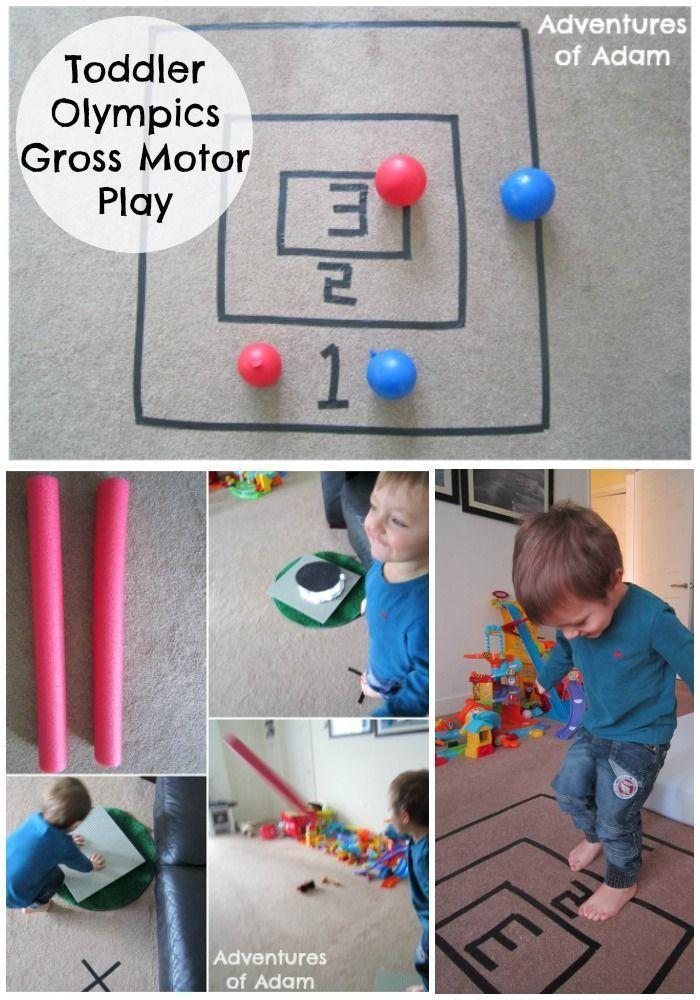 O is for olympics gross motor play gross motor olympics for Gross motor toddler activities