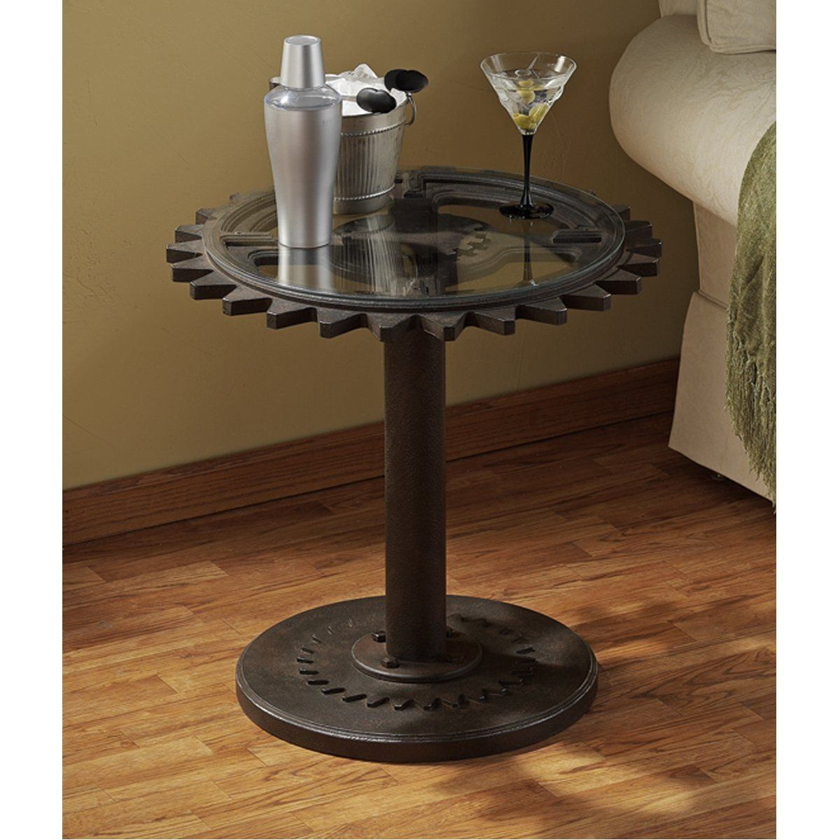 Steampunk End Table