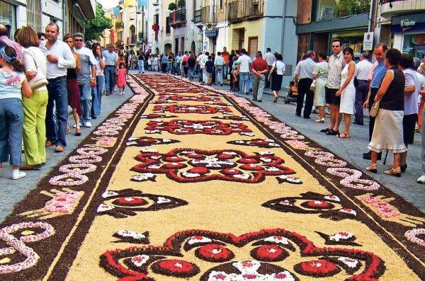 Catifes de flors (Corpus 2012). La Garriga. Vallès Oriental, Catalonia |  Orientales