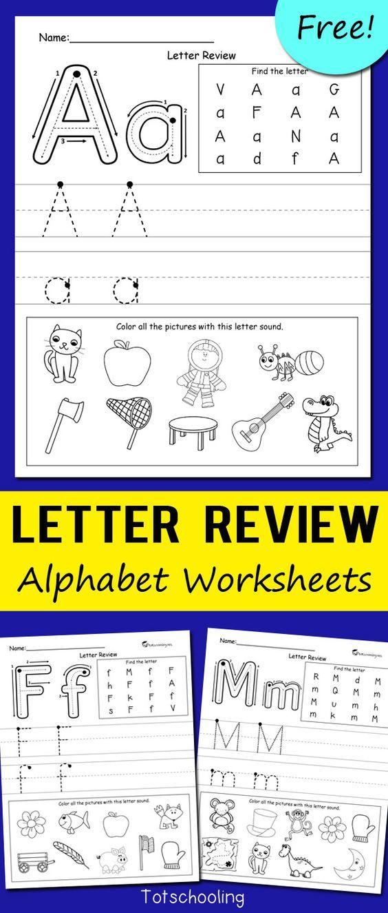 Letter Review Alphabet Worksheets Kindergarten