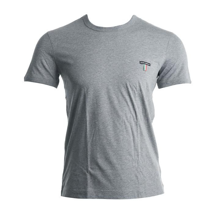 Dolce & Gabbana – R-Neck T-shirt – Grijs T-shirts L