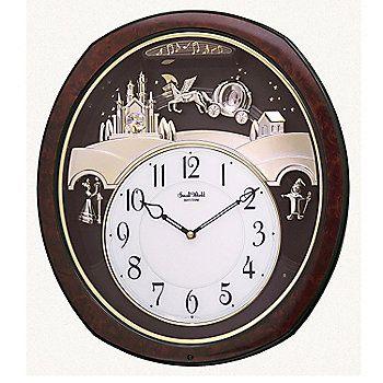 Rhythm Princess Fantasy Musical Motion Wall Clock Made W Swarovski Crystals Clock Rhythm Clocks Wall Clock