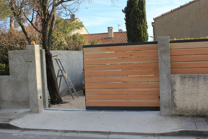 portail coulissant bois u2026 Pinteresu2026