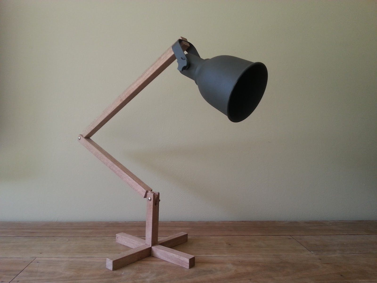 Finished Lamp made from 18mm square maple timber, 2 wing