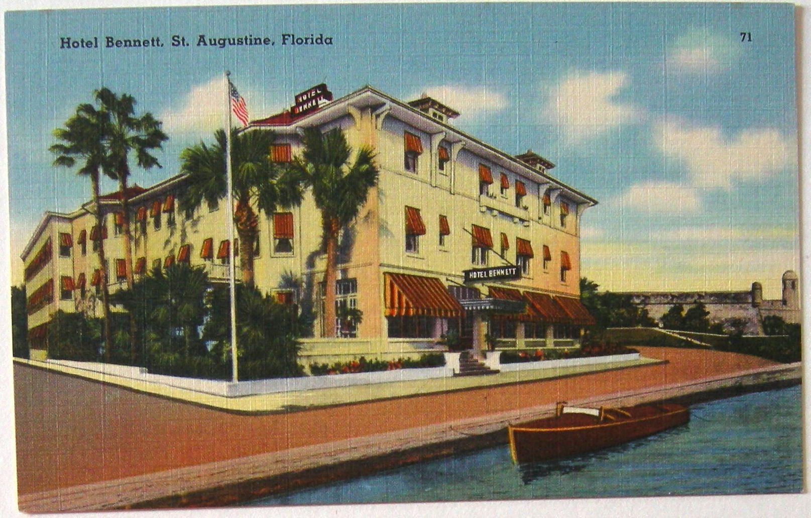 Hotel Bennett, lost place of St. Augustine, FL. No message.