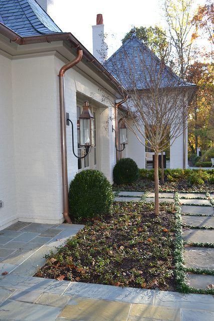 Copper Gutters With White Downspouts House Paint Color Combination Exterior House Paint Color Combinations Exterior Paint Colors For House