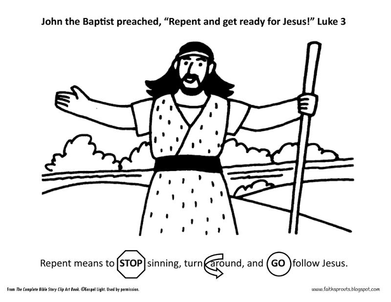 John The Baptist Pdf John The Baptist Sunday School Coloring Pages Bible Crafts
