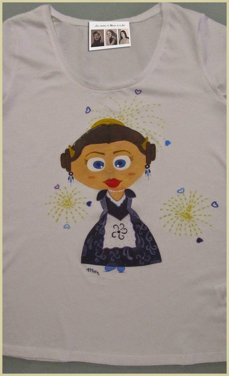 5acb58f72 Finalizamos la semana con ésta camiseta personaliza para la hija de Amparo  en Valencia la disfrute en sus fiestas .
