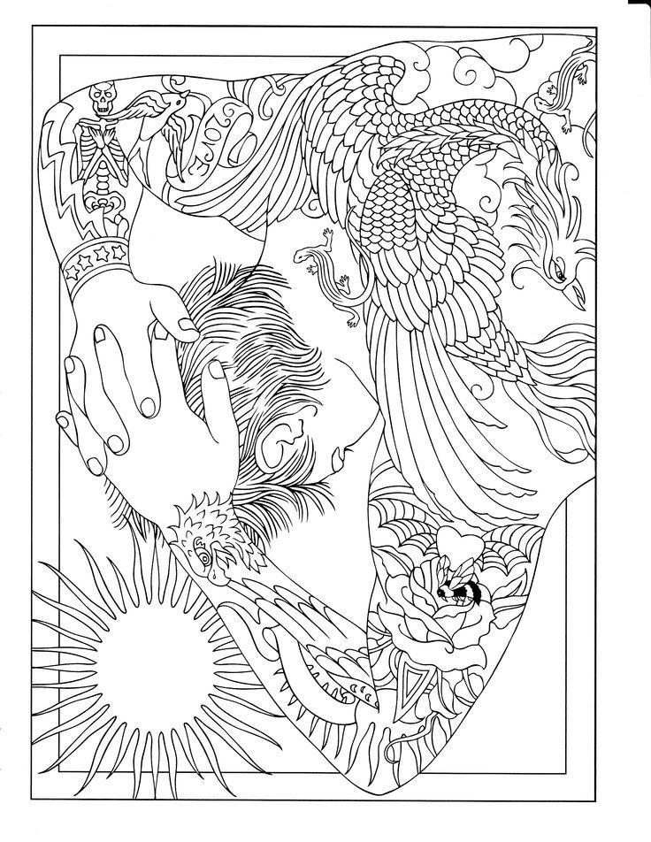 body art tattoo designs coloring book - Body Art Tattoo Designs Coloring Book