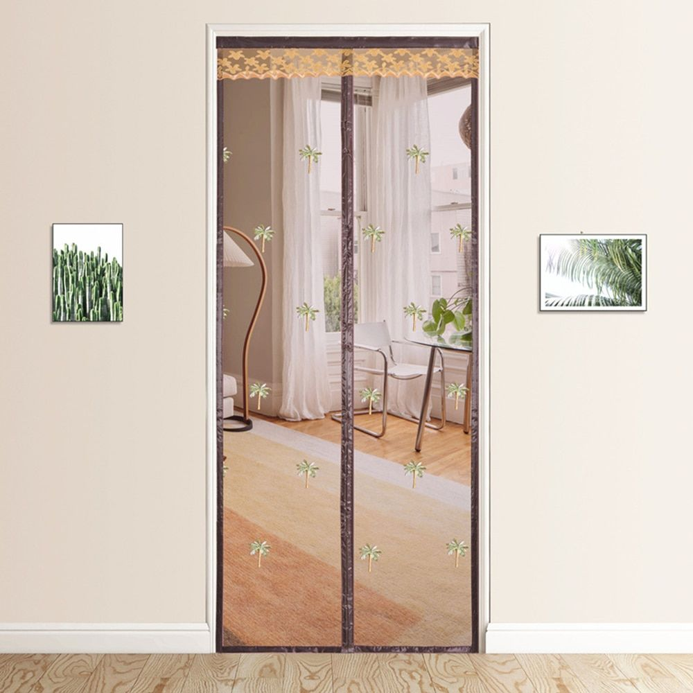 Magnetic Mesh Net Door Screen Velcro Anti Mosquito Curtain Summer Kitchen Bedroom Office Anti Mosquito Net Home Impr In 2020 Mosquito Curtains Net Door Bedroom Office