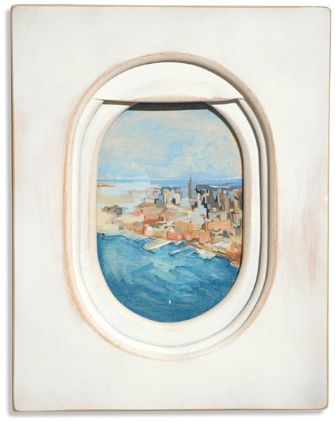 Views From Above City By Jim Darling Airplane Painting Art