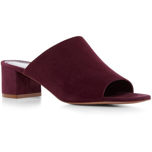 a0ad05795a3 Mansur Gavriel Suede Mule (615 CAD) ❤ liked on Polyvore featuring shoes