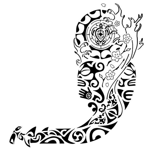 Tatuagem Polinesia Maori Kirituhi Samoan Tattoo Polynesian