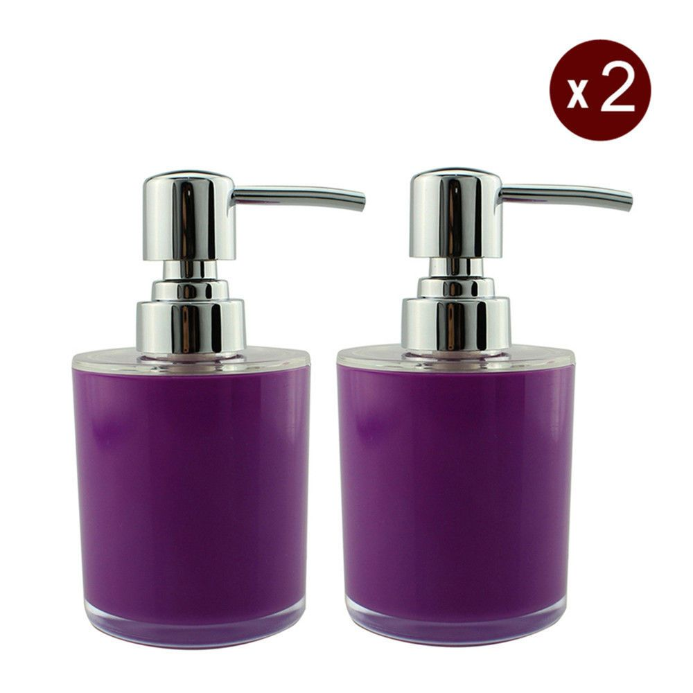 2x Purple Liquid Soap Dispenser Pump