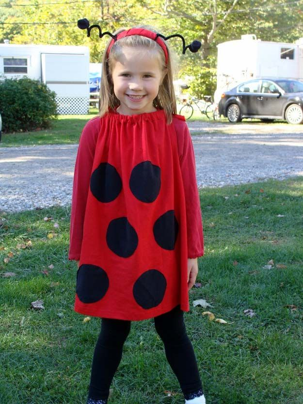 Last Minute DIY Halloween Costumes - Quick Ideas for Adults Kids and Teens - Super Easy Lady Bug Costume Tutorial  sc 1 st  Pinterest & 36 Last Minute DIY Halloween Costumes | Pinterest | Bug costume ...
