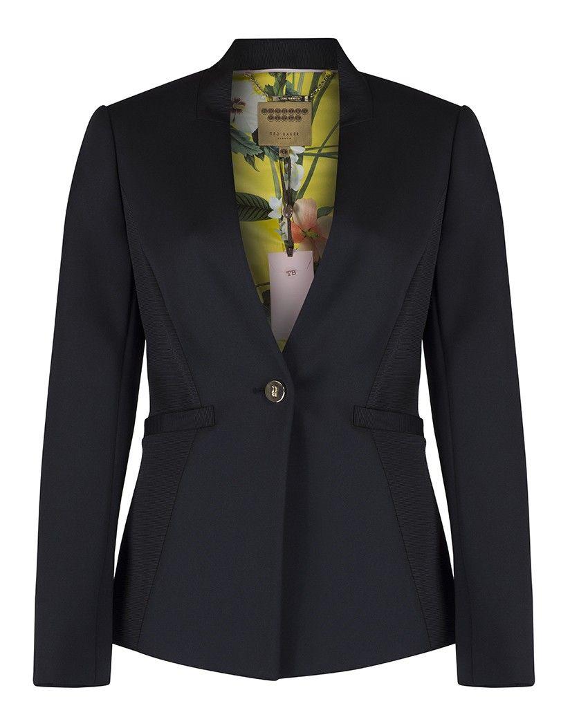 7d0c7d7b5727bb Ted Baker Women s Kiia Neoprene Ottoman Jacket - Black