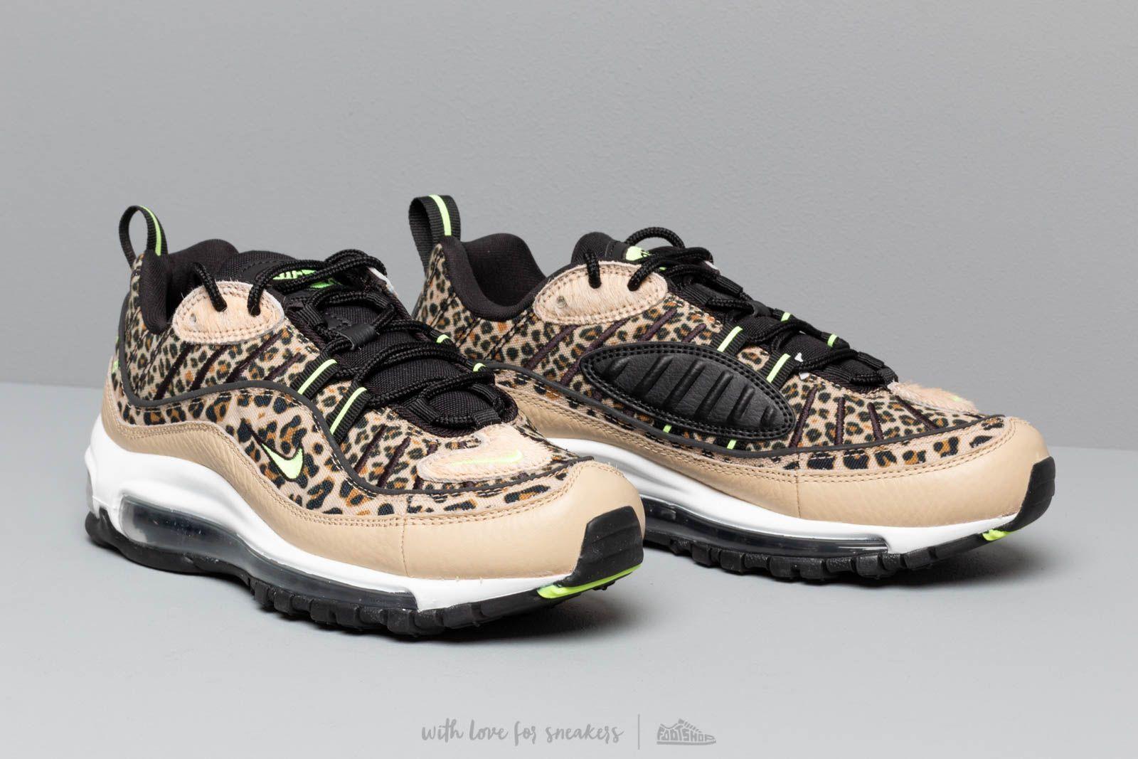 Nike W Air Max 98 Prm Desert Ore Volt Glow Black Wheat