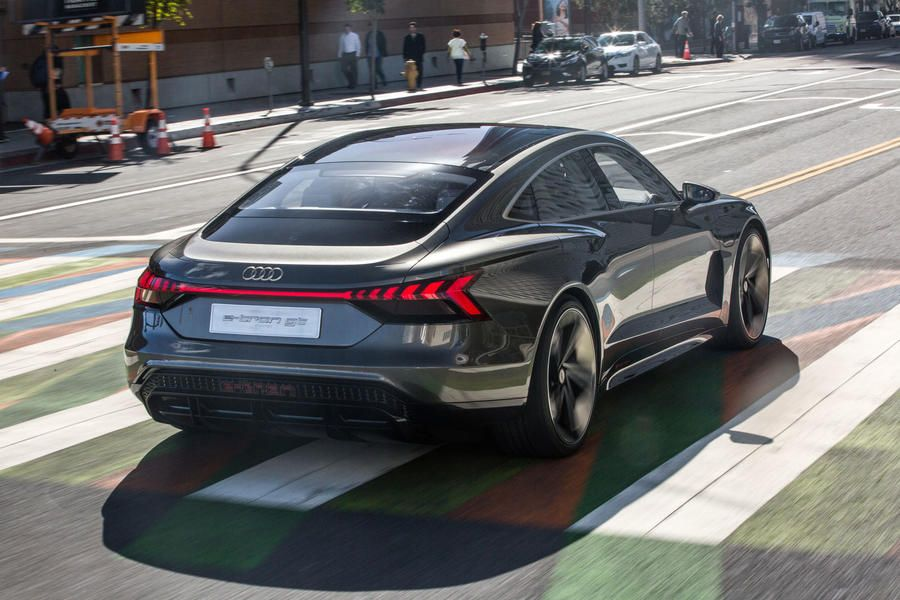 Audi Etron GT concept 2018 first drive of electric