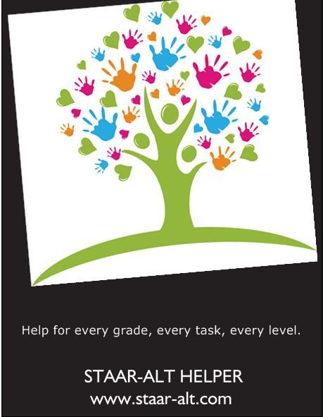 This is a poster advertising the Staar-alt Helpers that many teachers are using to do the testing this spring for Staar-alt eligible students.