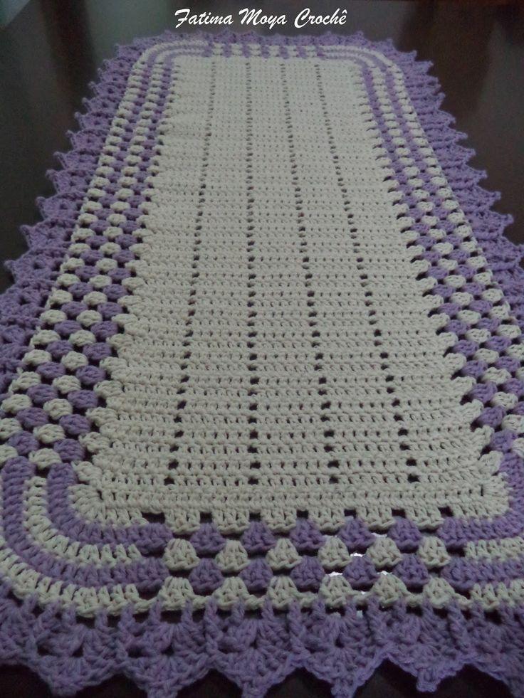 Resultado de imagem para passadeira de croche | Afghan pattern ...