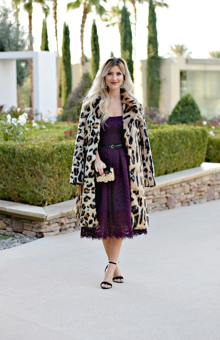 Leopard Coat New Year S Eve Outfit Inspiration Outfit Ideas Nye Outfit Ideas 2017 2018 T Winter Wedding Outfits Wedding Guest Outfit Winter Guest Outfit [ 1360 x 880 Pixel ]