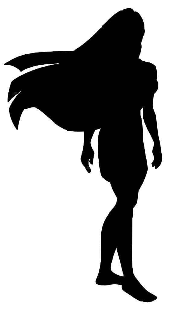 black and white disney silowets   Pocahontas Silhouette ...