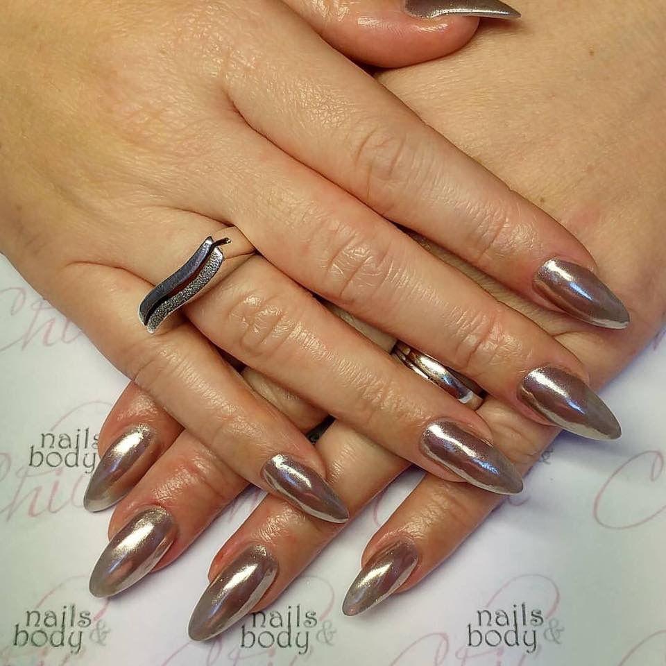 Unghie platino effetto specchio nails nails e beauty - Unghie gel specchio ...