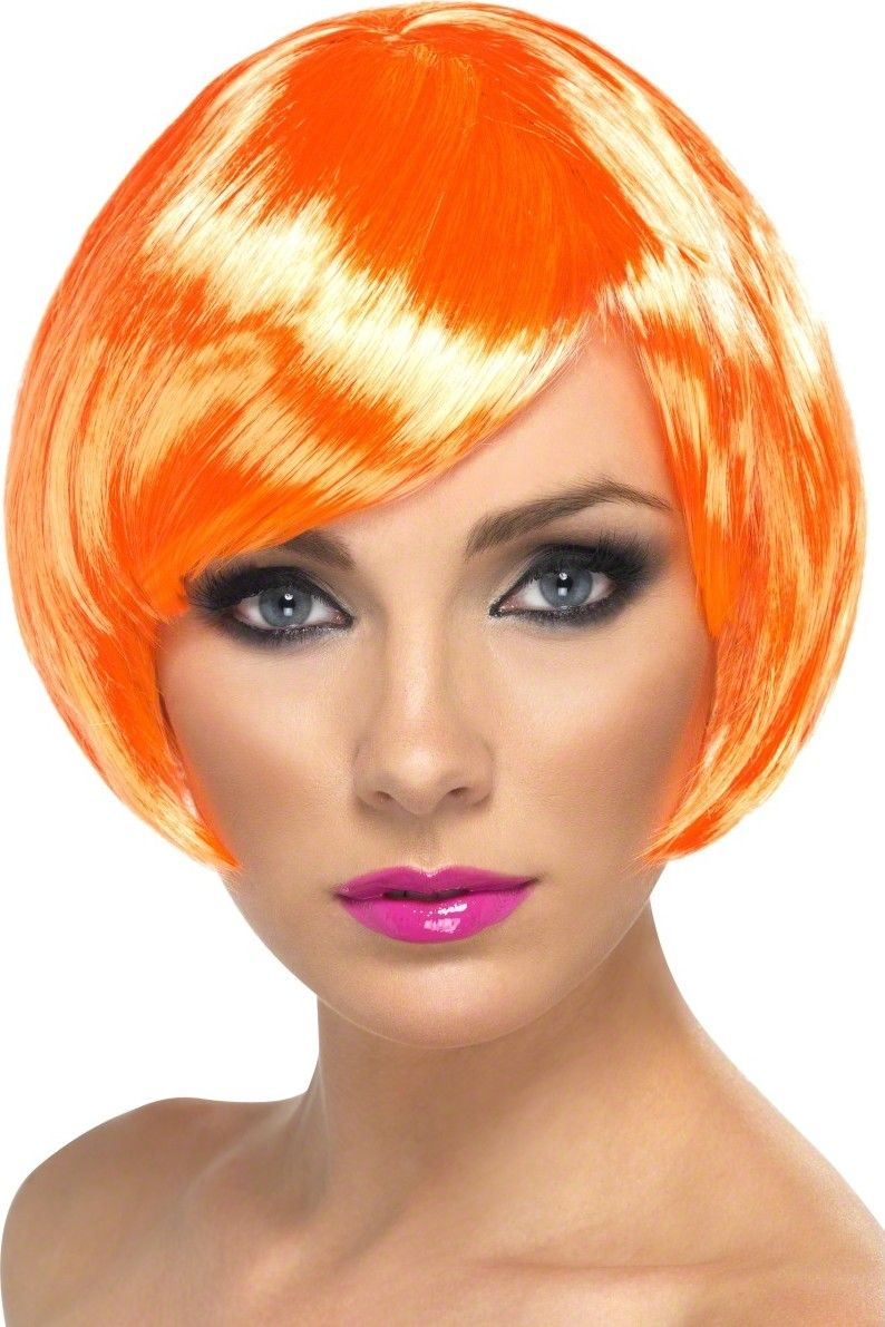 Orange Bob Hair Wigs