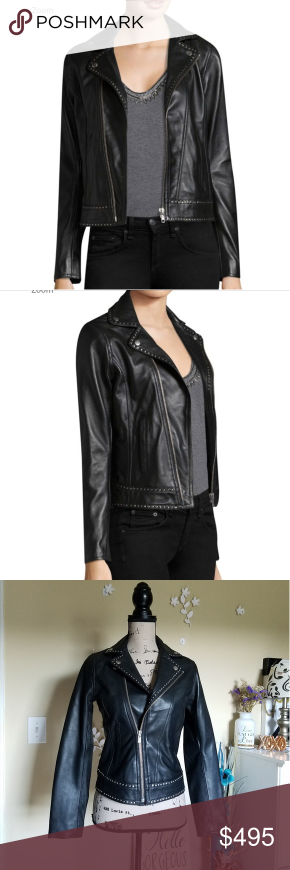 ️🖤The Kooples Leather Moto Jacket🖤🖤 NWT!! Authentic women