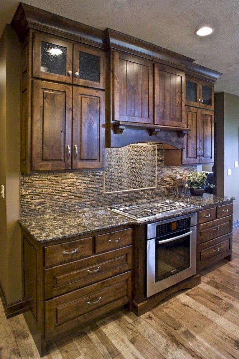 40+ Best Rustic Farmhouse Kitchen Cabinets Makeover Ideas ... on Rustic:yucvisfte_S= Farmhouse Kitchen Ideas  id=43676