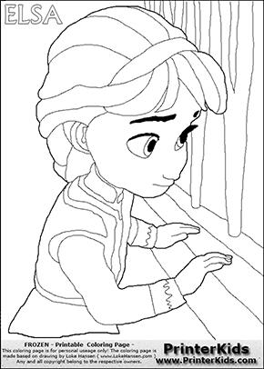 Disney's Frozen Young Elsa | large view views pdf color ...