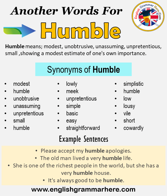 Another Word For Humble What Is Another Synonym Word For Humble Every Language Spoken Around The World Has Its Own In 2021 Learn A New Language Words Opposite Words