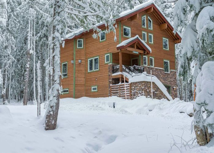 Chalet am Berg is surrounded by snow during the winter