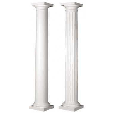 6 Round Tapered Architectural Fiberglass Column Frp Porch Column House Columns Tuscan Design Tuscan Column