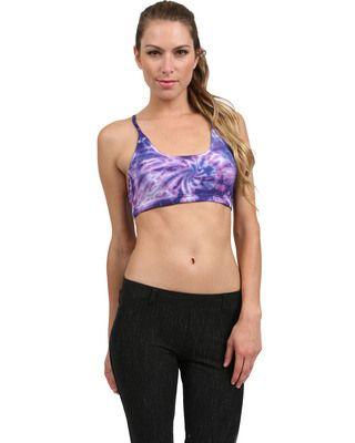 Freestyle Bra Top in Purple Tie Dye