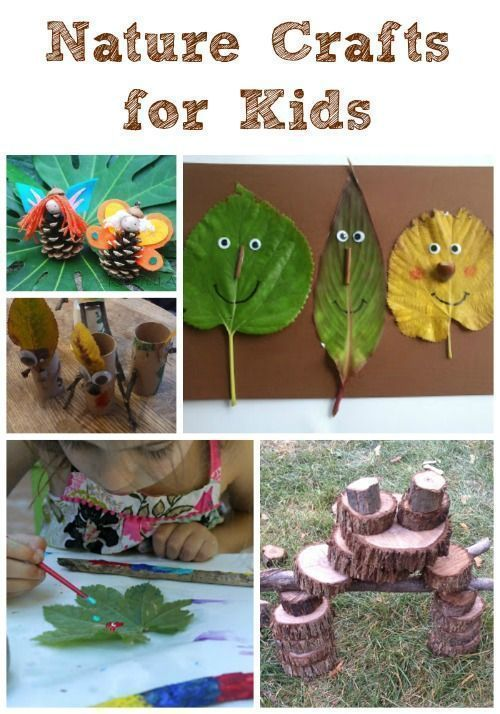 Easy nature crafts for kids!  Creative ways to connect art & nature for preschool, elementary, tweens and teens - great ideas for summer camp or forest school!