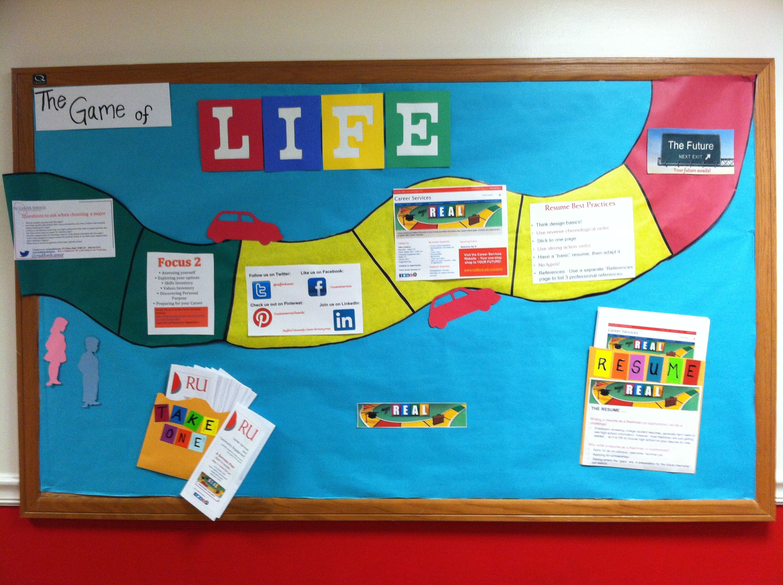 The Game Of Life Bulletin Board Library Displays And Bulletin
