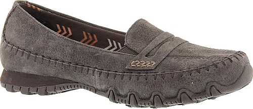 21c454129ac Skechers USA Women s Shoes in Chocolate Color. Skechers  take on the  traditional loafer features a keeper strap and stylish stitching accents.