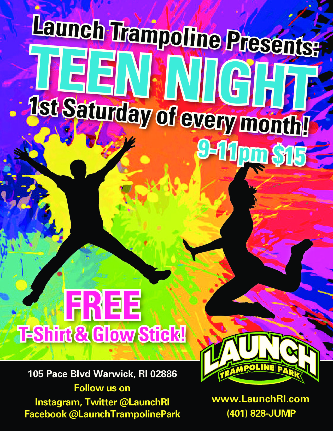 teen night at launch trampoline park warwick ri fun place for kids to party and let loose 2. Black Bedroom Furniture Sets. Home Design Ideas