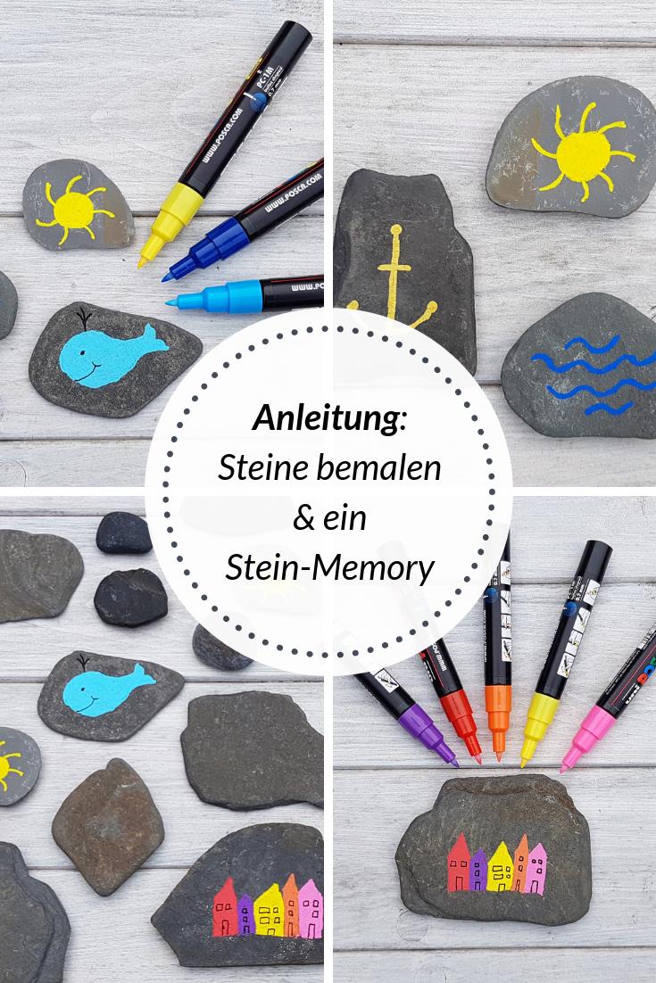 Anleitung: Steine bemalen und ein Stein-Memory herstellen #steinebemalenkinder DIY: Ein Steinmemory für Kinder aus bemalten Steinen. Auf Küstenkidsunterwegs zeige ich Euch in einer einfachen Anleitung, wie Ihr mit Stiften Steine für ein Memory bemalen könnt. Das Gestalten macht Spaß und Ihr erfahrt bei mir, wie das mit einfachen Mitteln möglich ist.  #steinmemory #steine #stifte #memory #kinder #bemalen #diy #anleitung #malen #spiel #steinebemalenanleitung