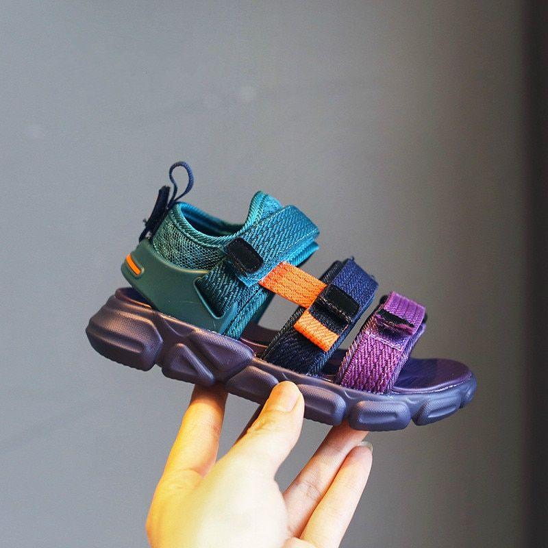 Kids Colorful Sandals Ribbons Girls Fashion Sandals Purple Children S Sports Sandals Good Quality Soft Soled Beach Sh Fashion Sandals Beach Shoes Sport Sandals
