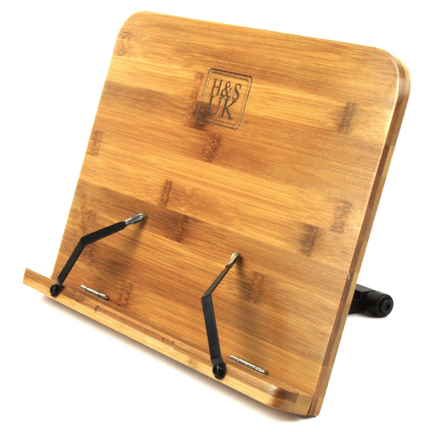 H&S® BamBoo Reading Rest Cookbook Cook Book Holder Stand