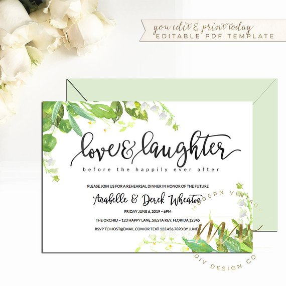 5b22c42c8737 love   laughter before the happily ever after Invitation template ...