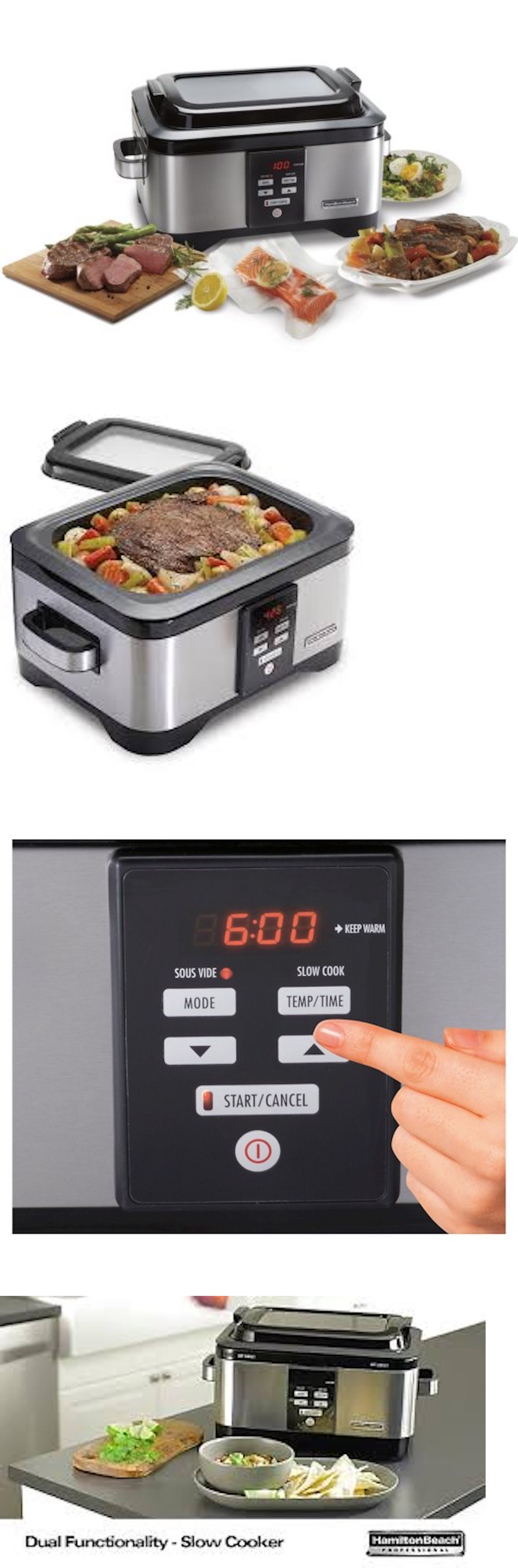 Uncategorized Ebay Kitchen Appliances appliances hamilton beach 33970 professional sous vide slow cooker 6 quart stainless new