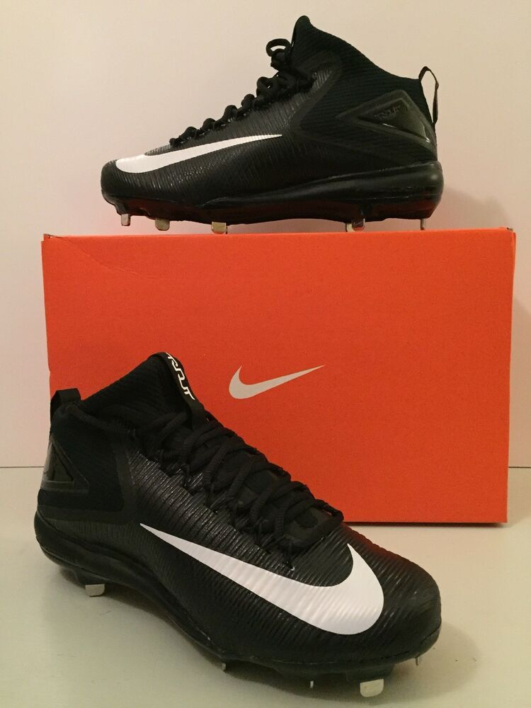 Nike Zoom Trout 3 Metal Baseball Cleats 856503-011 Black/White Size ~ Baseball & Softball Equipment