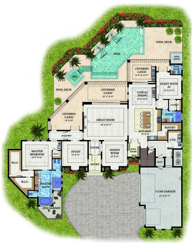 Regatta Naples Florida House Plans Florida House Plans Dream House Plans Monster House Plans