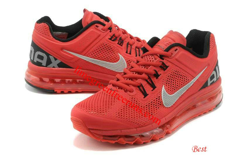 Nike Air Max 2013 Mens Pimento Red Black 554886 600 [Lime