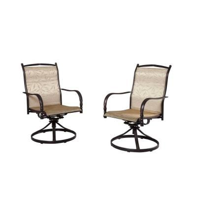 Hampton Bay Altamira Tropical Motion Patio Dining Chairs (Set Of 2) DY9976